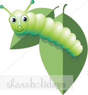 Green Caterpillar Clipart.