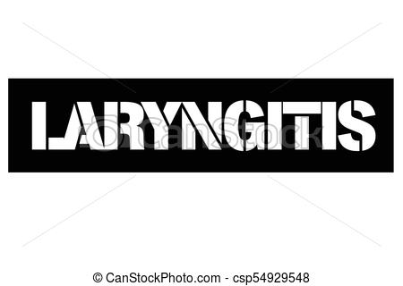 Laryngitis typographic stamp.