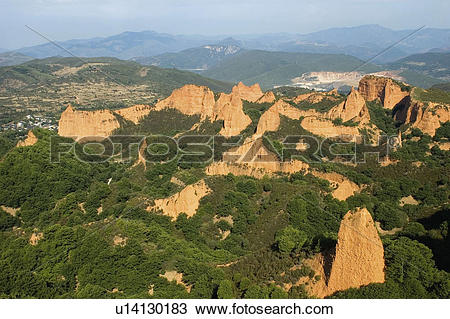 Stock Photo of Spain, Castilla leon, Leon, Las medulas, Medulas.