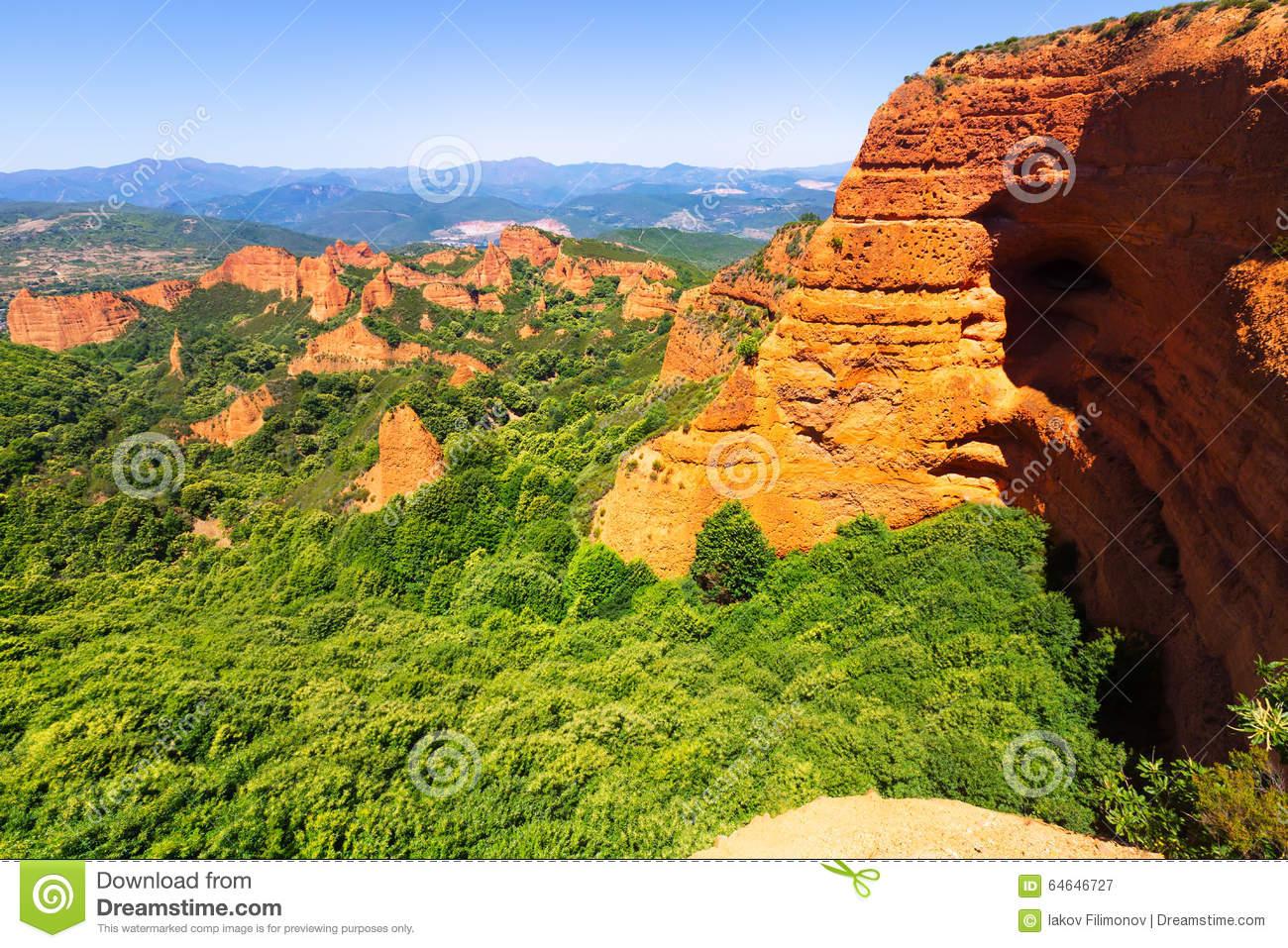 Landscape Of Las Medulas.