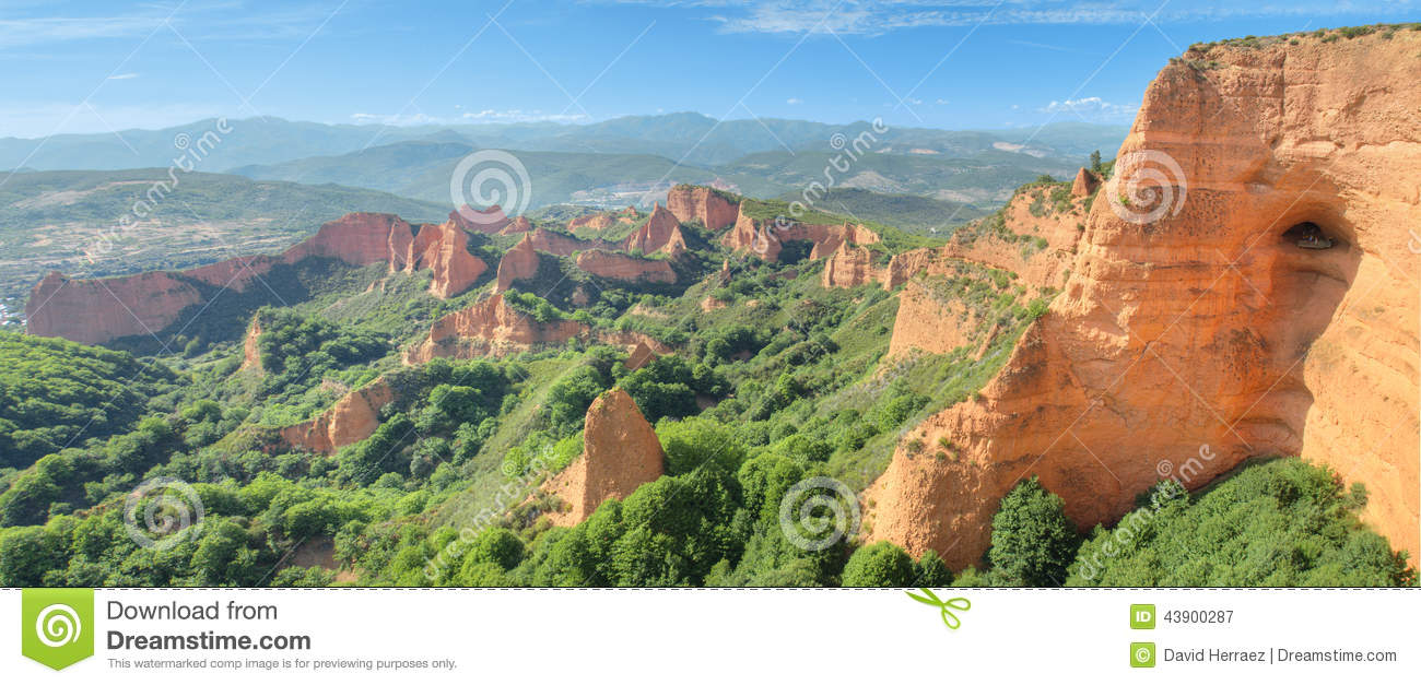 Las Medulas, Ancient Roman Mines In Leon, Spain. Stock Photo.