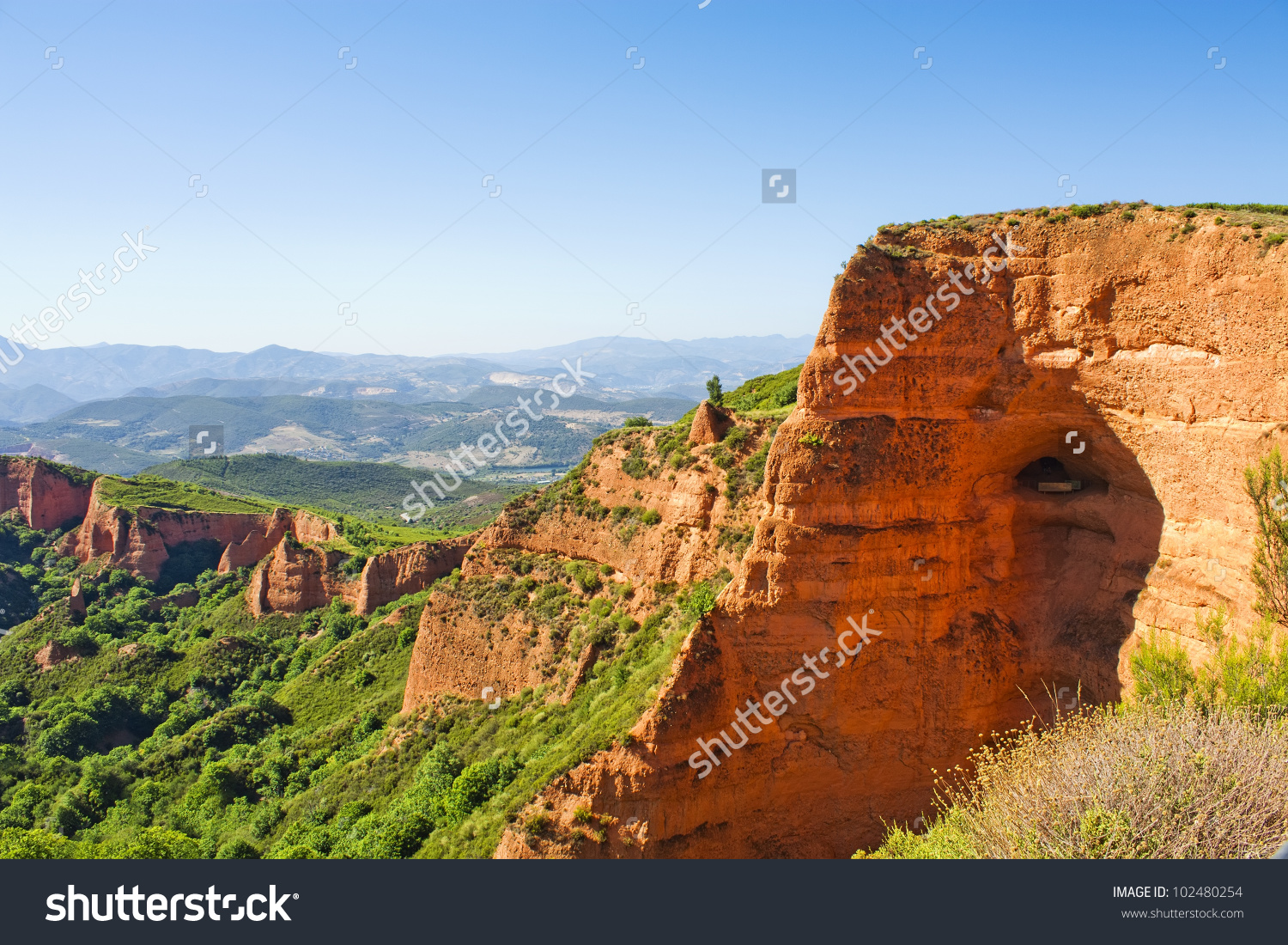 Las Medulas Ancient Roman Mines, Unesco, Leon, Spain Stock Photo.