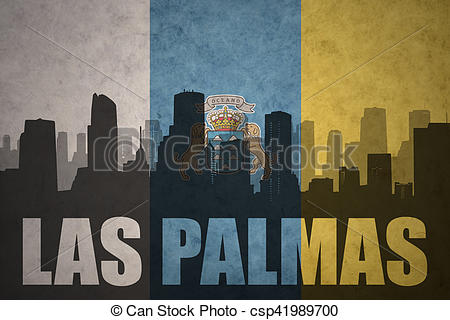 Stock Illustration of abstract silhouette of the city with text.