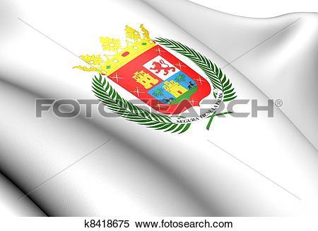 Stock Illustration of Las Palmas de Gran Canaria Flag, Spain.