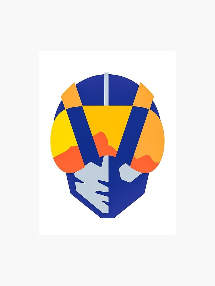 Blue Las Vegas aviators logo.