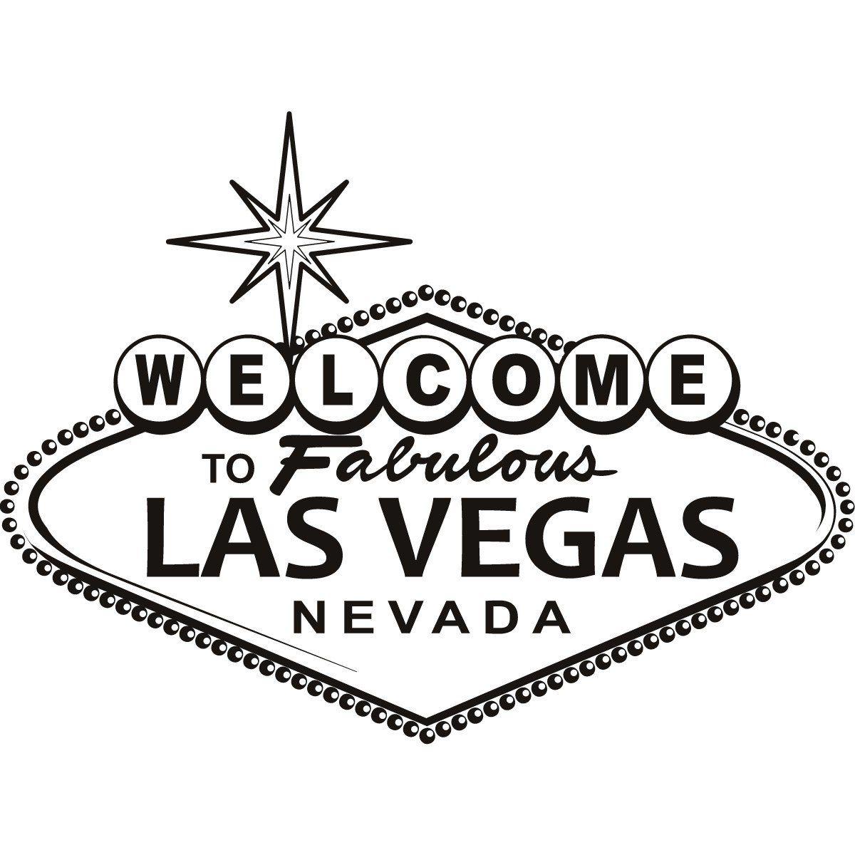 Las Vegas Sign Wall Art Sticker , Vinyl Stickers , H = 50cm.