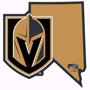 Details about Vegas Golden Knights Home State Vinyl Auto Decal (NHL) Nevada  Shape.