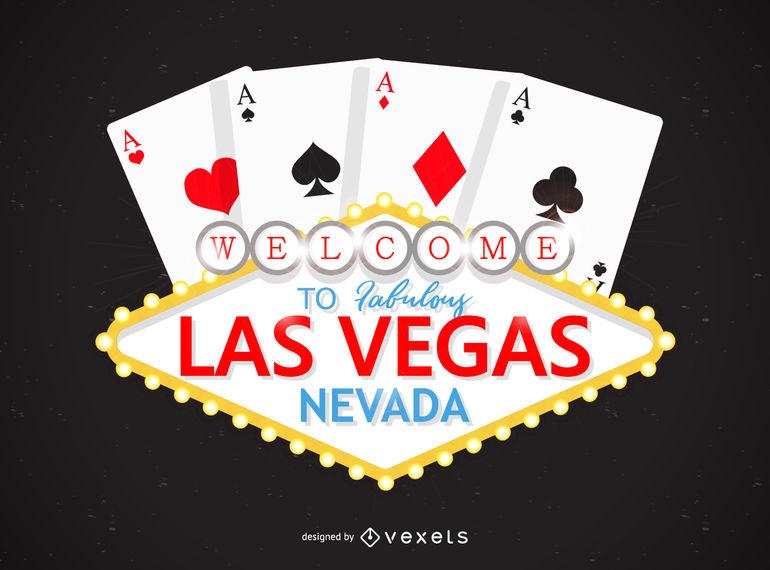 Las Vegas casino logo design.