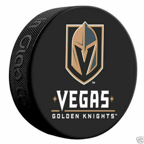 Las Vegas Golden Knights Official NHL Logo Souvenir Hockey Puck by Sher.