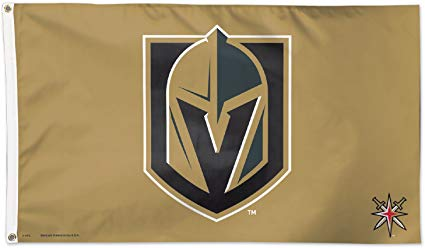 Wincraft Las Vegas Golden Knights Gold 3x5 NHL Flag Black Logo New ….