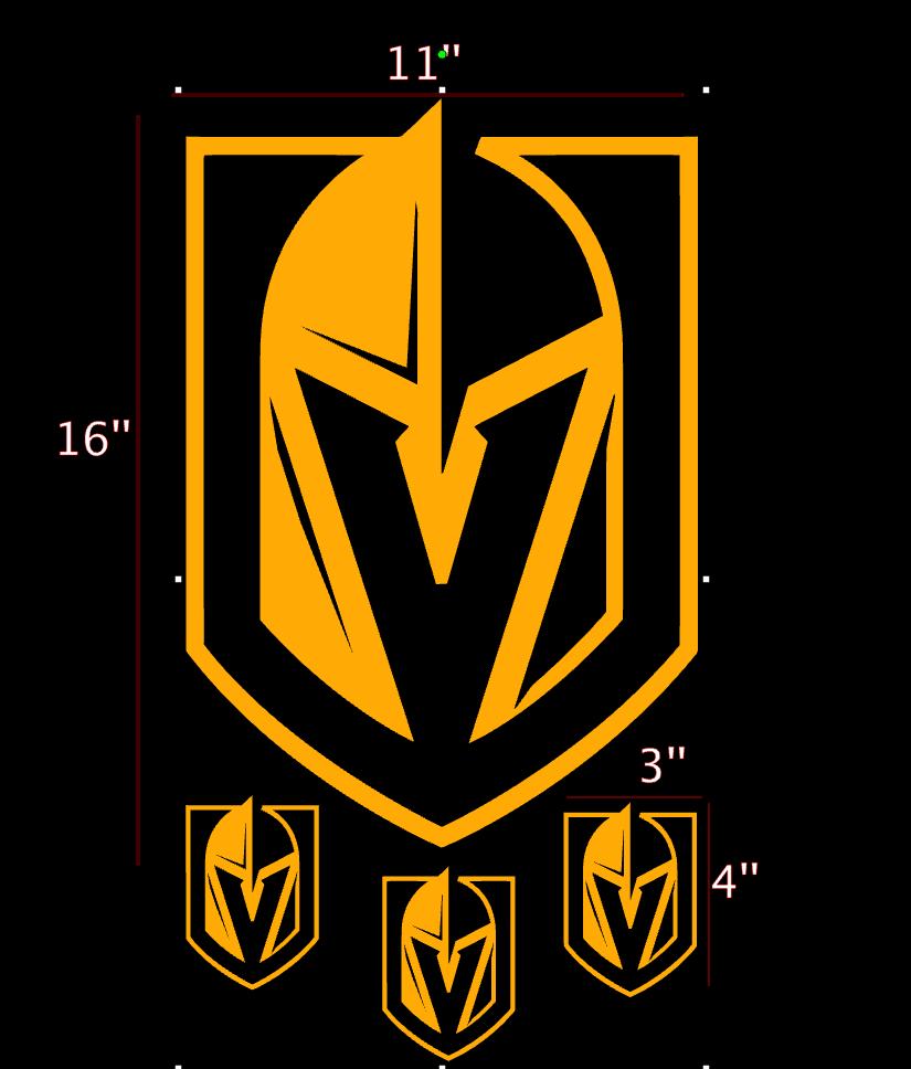 GOLDEN KNIGHTS LAS Vegas logo Vinyl Sticker Car Laptop Room.