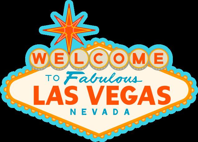 Las Vegas Sign Drawing transparent PNG.