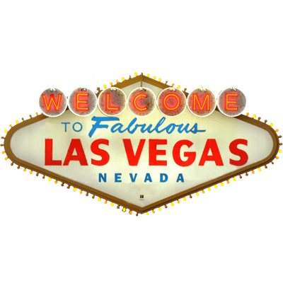 Las Vegas Sign Drawing transparent PNG.