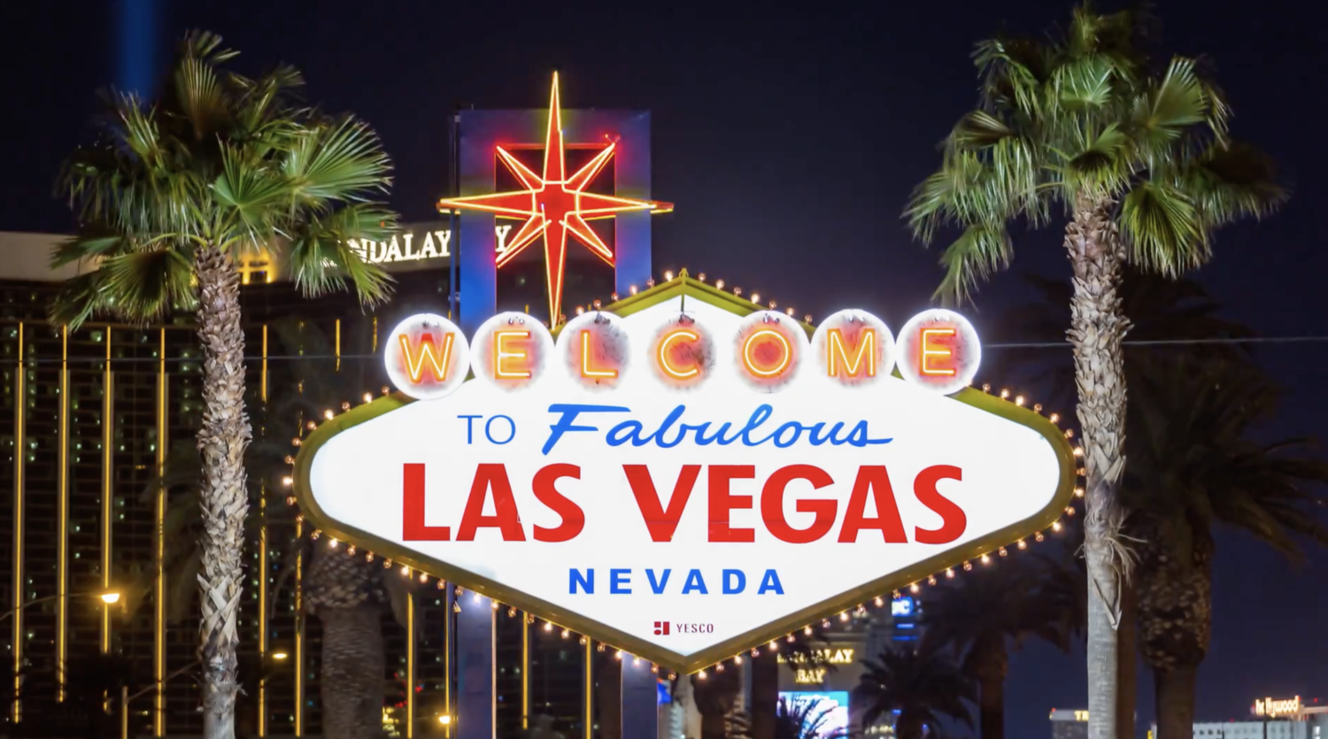 (HD) Welcome to Fabulous Las Vegas Sign at Night.