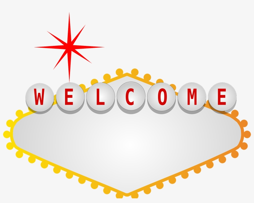 Welcome To Fabulous Las Vegas Sign Png Svg Black And.