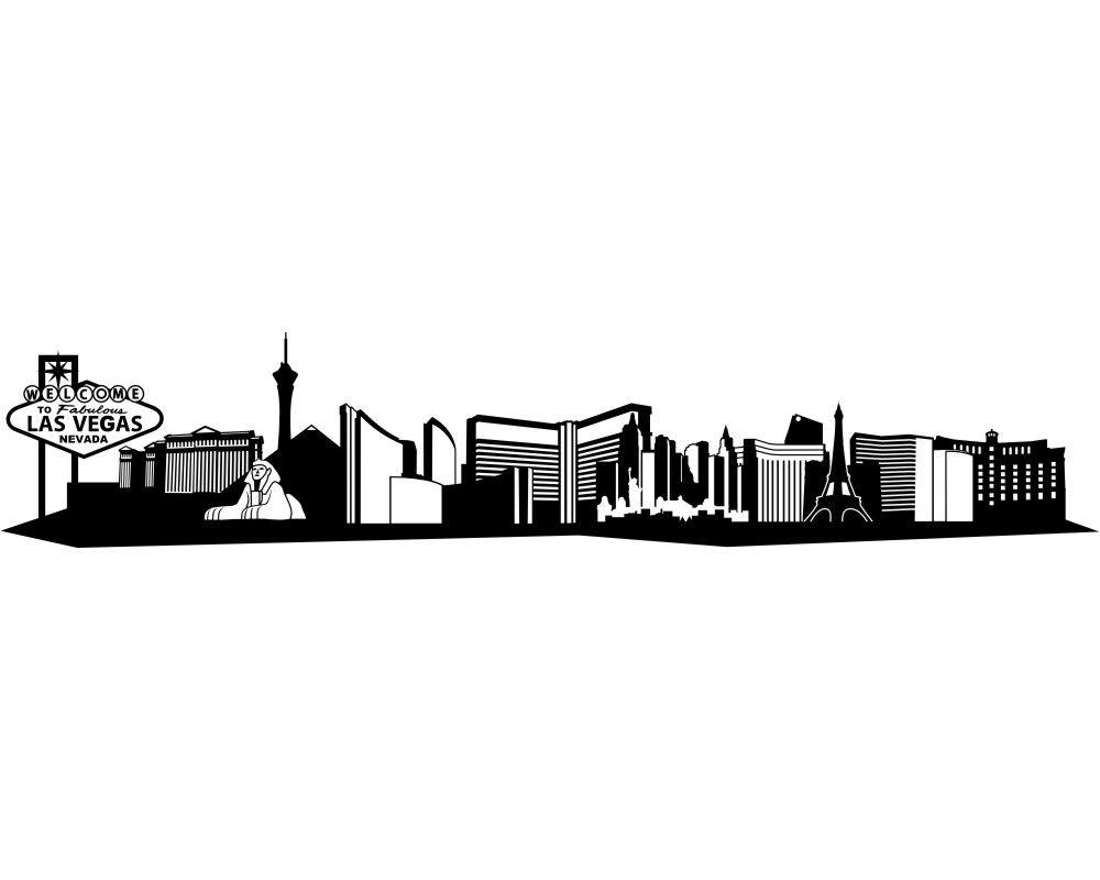 Las Vegas Skyline Sketch at PaintingValley.com.