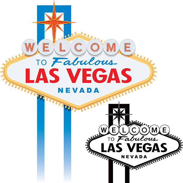 Best Welcome To Fabulous Las Vegas Nevada Sign Illustrations.