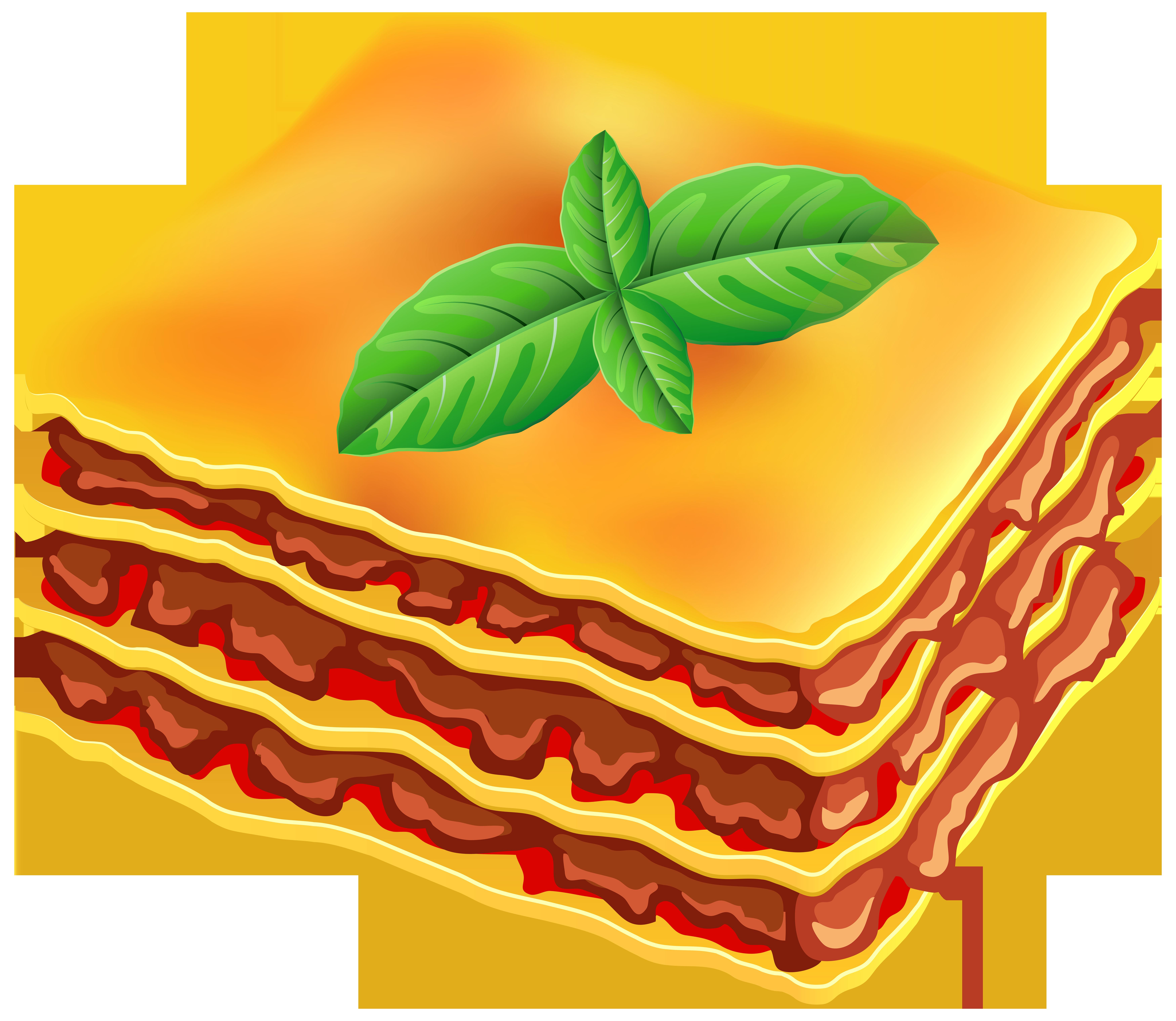 Lasagna Transparent PNG Clip Art Image.