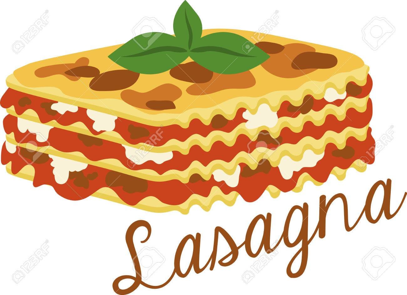 What a cool design of lasagna! This would be great on an apron...
