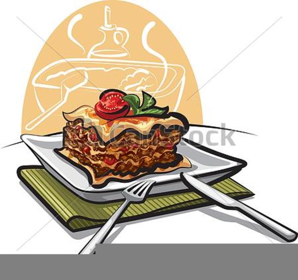 Free Clipart Lasagna Dinner.