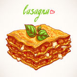 Lasagna Stock Illustrations.