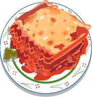 Free food clipart lasagna.