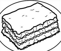 Free Lasagna Clipart.