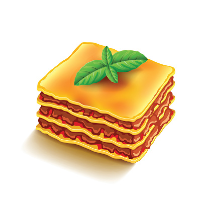 Lasagna Clip Art, Vector Images & Illustrations.