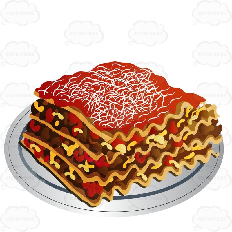 Lasagna Clipart.