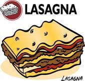 Lasagna Clip Art.