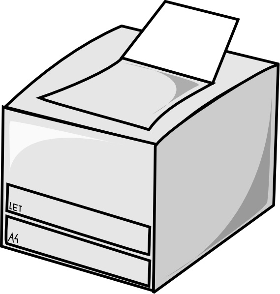 Laser Printer clip art Free vector in Open office drawing.