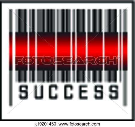 Clipart of Bar Code icon and red laser sensor k19201450.