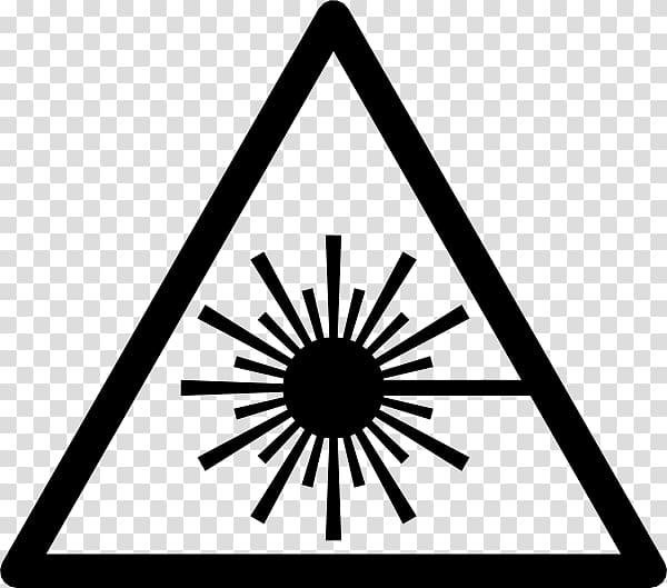 Silhouette of sun illustration, Laser safety Symbol, laser.