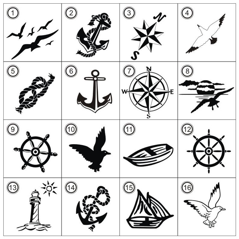 Nautical Clipart SVG Cricut Cutting Laser Engraving, Nautical Wedding  Compass Rose Art DIY Decorations.