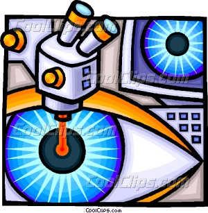Laser Eye Surgery Clipart.