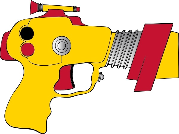 Laser Ray Gun clip art Free vector in Open office drawing svg.