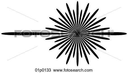 Clipart of laser light 01p0133.