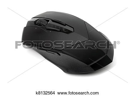Stock Photo of High quality professional laser mouse for gamers or.