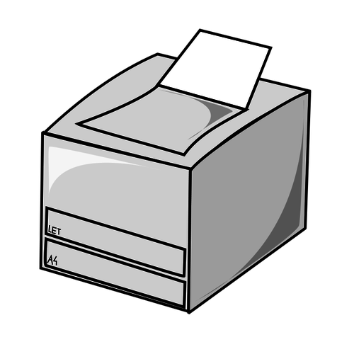 Laser printer vector icon.