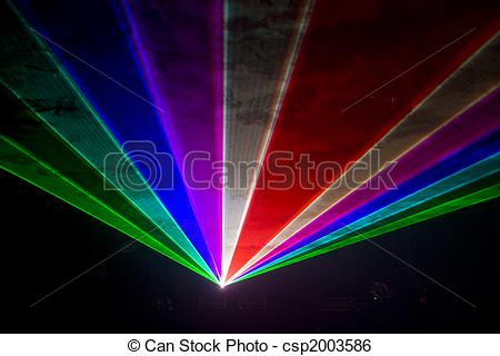 Stock Illustration of Disco and laser show.