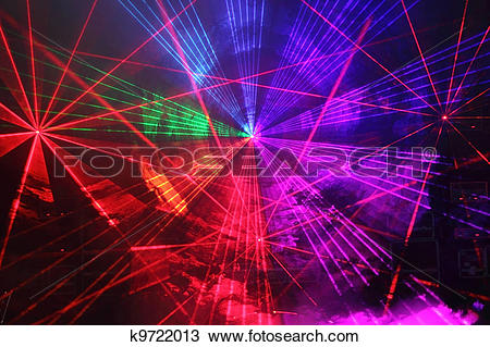 Drawing of Disco and laser show k9722013.