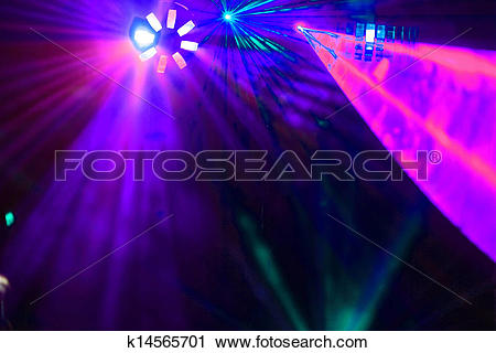 Clipart of Disco. Laser show. k14565701.
