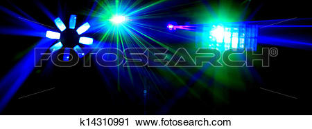Clipart of Disco. Laser show. k14310991.