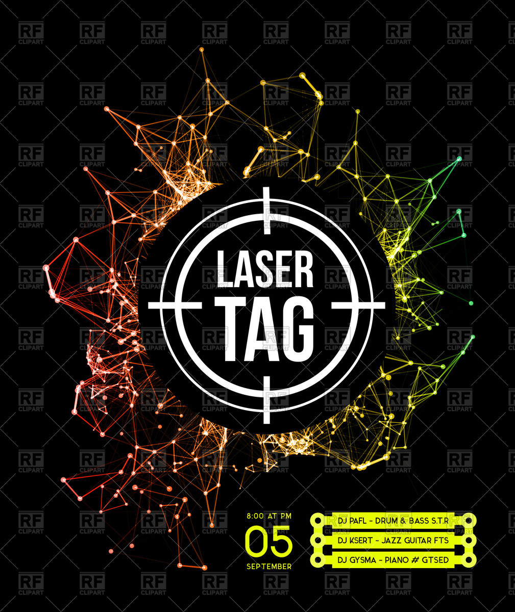 Laser tag with target Stock Vector Image.