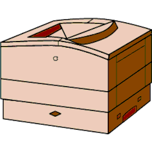 Apple LaserWriter Pro 630 clipart, cliparts of Apple LaserWriter.
