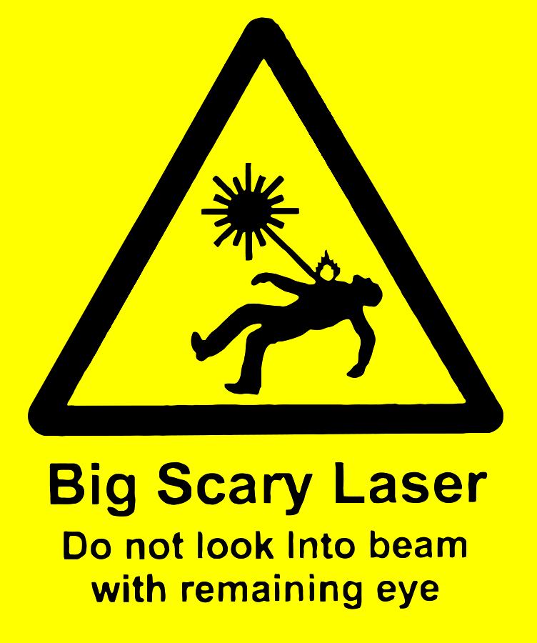 Scary laser SVG Vector file, vector clip art svg file.