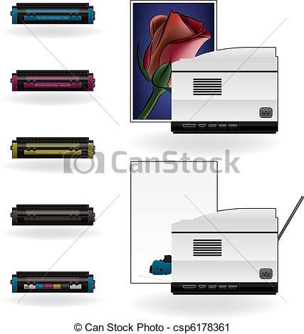 Vector Clip Art of LaserJet Printer.