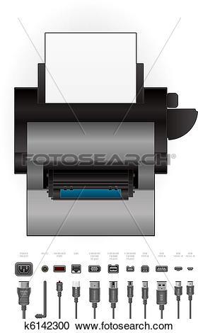Clipart of LaserJet Printer k6142300.