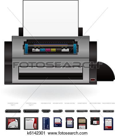 Clipart of LaserJet Printer k6142301.