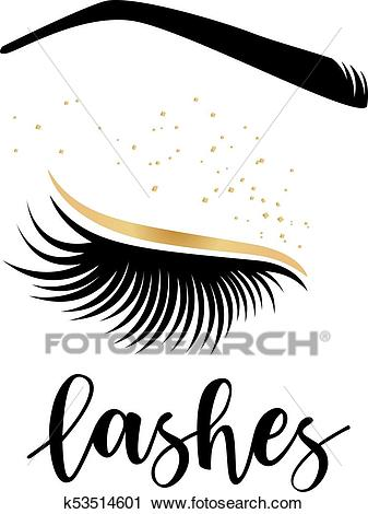 Vector illustration of lashes Clipart.